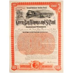 Green Bay, Winona and St. Paul Railroad Bond