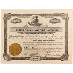 Indian Valley Railroad Stock
