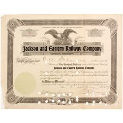 Jackson and Eastern Railway Co. Stock