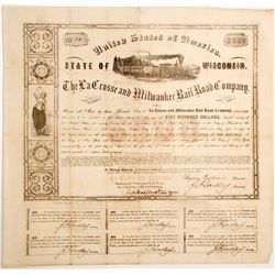 La Crosse and Milwaukee Rail Road Bond, #1