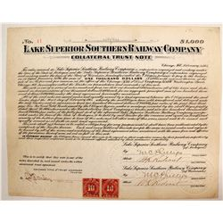 Lake Superior Southern Railway Company Collateral Trust Note