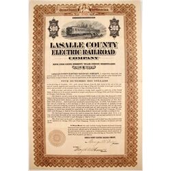 Lasalle County Electric Railroad Bond