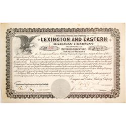 Lexington and Eatern Railway Debenture