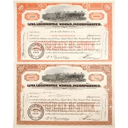 Lima Locomotive Works Stocks (2)