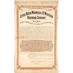 Little Rock, Maumelle & Western Railroad Bond