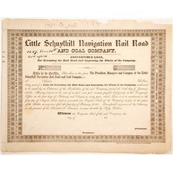 Little Schuylkill Navigation Rail Road and Coal Loan Cert