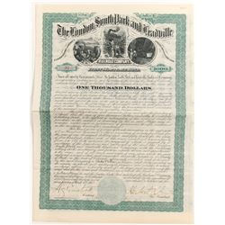 London South Park and Leadville Railroad Bond