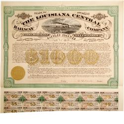 Louisiana Central Railway Bond