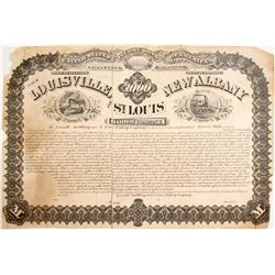 Lousiville, Albany and St. Louis Railway Printers Proof Bond