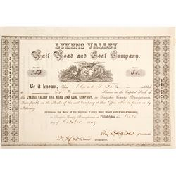 Lykens Valley Rail Road & Coal Stock