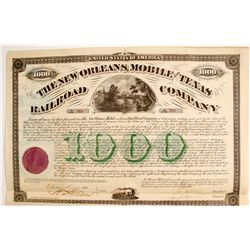 New Orleans, Mobile and Texas Railroad Bond