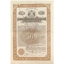 Pennsylvania and New Jersey Railroad Bond #1
