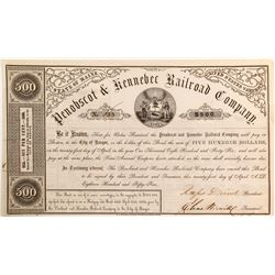 Penobscot & Kennebec Railroad Bond