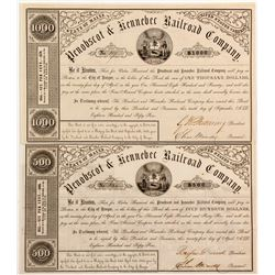 Penobscot & Kennebec Railroad Bonds (2)