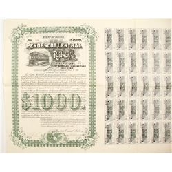 Penobscot Central Railway Bond