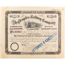 Peoples Railway Co of Dayton, OH Stock