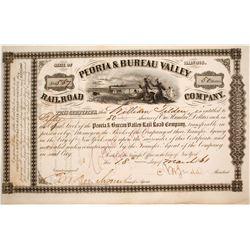 Peoria & Bureau Valley Railroad Stock