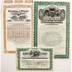 Peoria & Pekin Terminal Railway Bonds and Stock