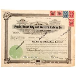 Peoria, Hanna City and Western Railway Stock