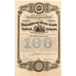 Philadelphia and Chester County Railroad Bond