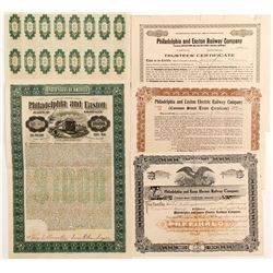 Philadelphia and Easton Electric Railway Certs (4)