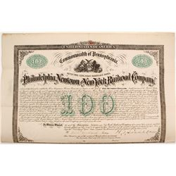 Philadelphia, Newtown and New York Railroad Bond