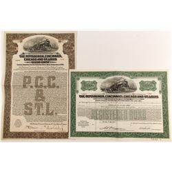 Piitsburgh, Cincinnati, Chicago and St. Louis Railroad Bonds (2)