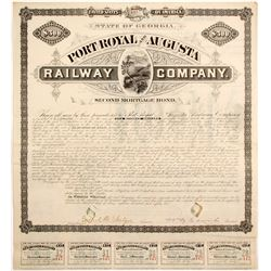 Port Royal and Augusta Railway Bond