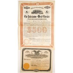 Pottstown & West Chester Electric Street Railway Stock and Bond
