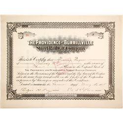 Providence and Burrillville Street Railway Stock, #24