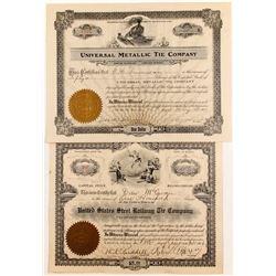 Railroad Tie Stocks, 2 Different