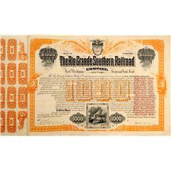 Rio Grande Southern Railroad Bond