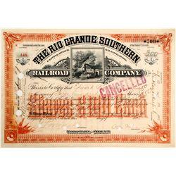 Rio Grande Southern Railroad Stock