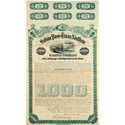 Sabine Pass and Texas Northern Railway Bond