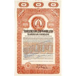 Sacramento and Woodland Railroad Bond