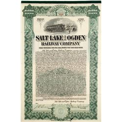 Salt Lake and Ogden Railway Stock and Bond
