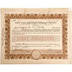 Salt Lake and Utah Railroad Stock