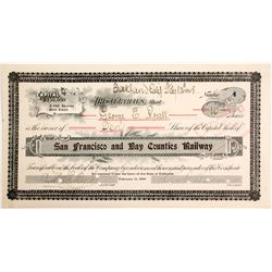 San Francisco and Bay Counties Railway Stock #4