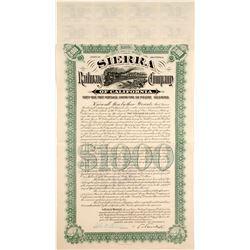 Sierra Railway Co of California Bond
