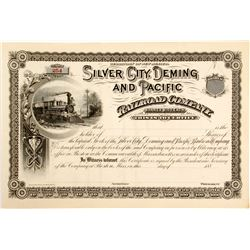 Silver City, Deming and Pacific Railroad Stock
