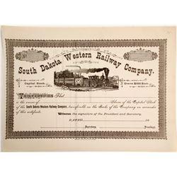 South Dakota Western Railway Stock