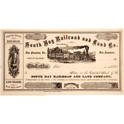 Southern Bay Railroad and Land Co Stock