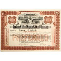 Spokane & Inland Empire Railroad Stock