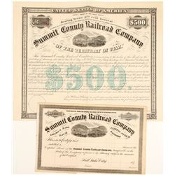 Summit County Railroad Stock and Bond