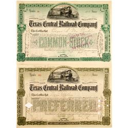 Texas Central Railroad Stocks (2)