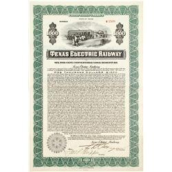 Texas Electric Railway Bond