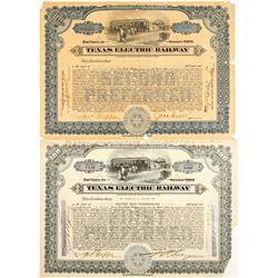Texas Electric Railway Stocks (2)
