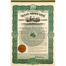 Texas Shortline Railway Bond