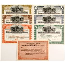 Tonopah and Goldfield Railroad Stock, Very Rare Group