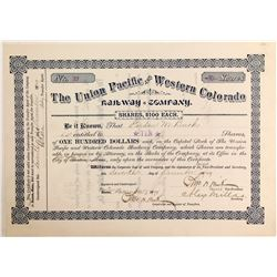 Union Pacific and Western Colorado Railway Stock